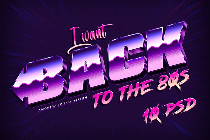 Thumbnail for New 80s Text Effects
