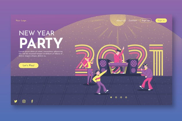 New Year Party - Landing Page GR