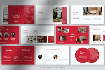Avory - Professional Business Company Presentation