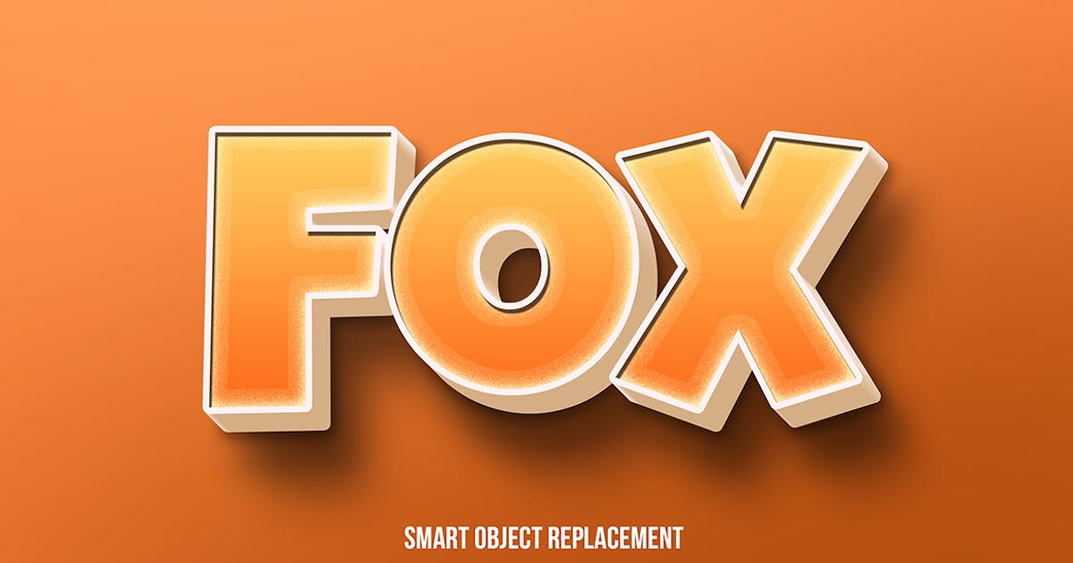 Download 3d fox cartoon text effect by wudelmbois