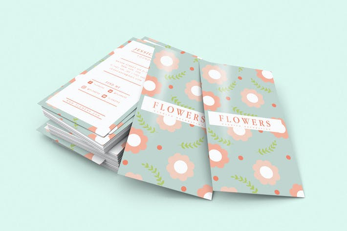 Cover Image For Flower Business Card