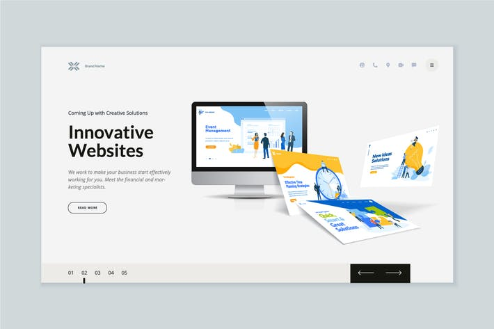Thumbnail for Website Template Design