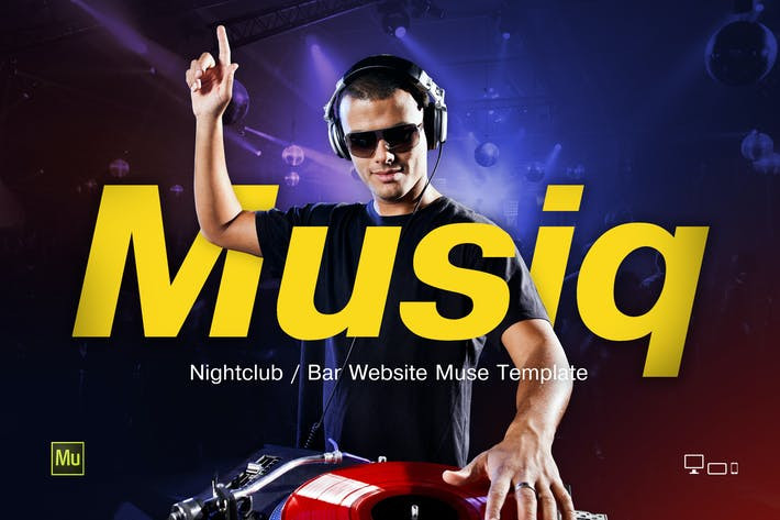 Thumbnail for Musiq — Discoteca/Bar Página web Muse Plantilla
