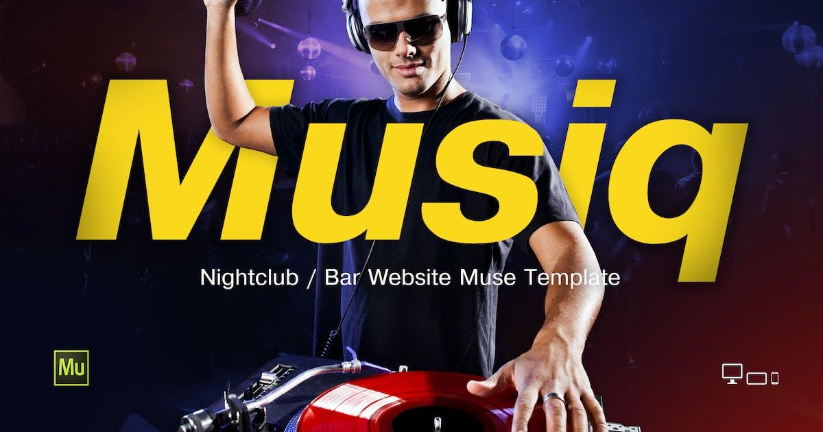 Download Musiq – Nightclub / Bar Website Muse Template by vinyljunkie