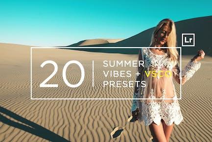 20 летних Vibes Пресеты Lightroom + VSCO