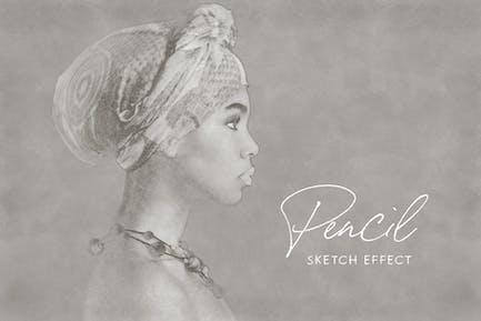 Pencil Sketch Photoshop Effect