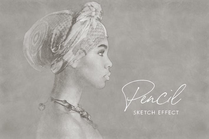 Thumbnail for Pencil Sketch Photoshop Effect