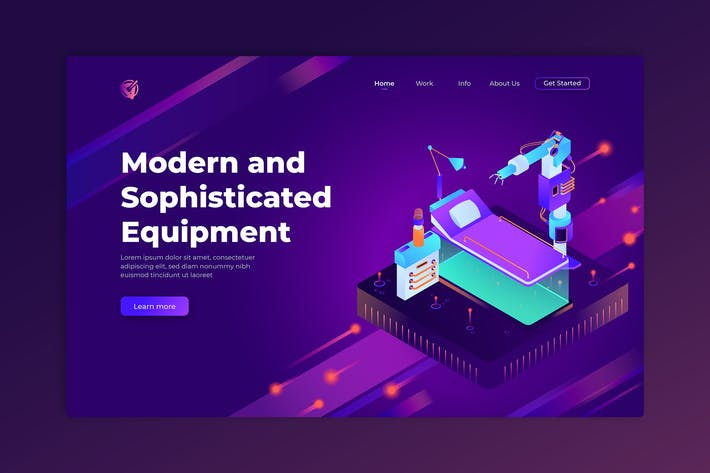 Thumbnail for Modern and Sophisticated Equipment - Landing Page