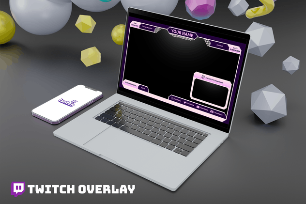 Pixel - Twitch Overlay Template