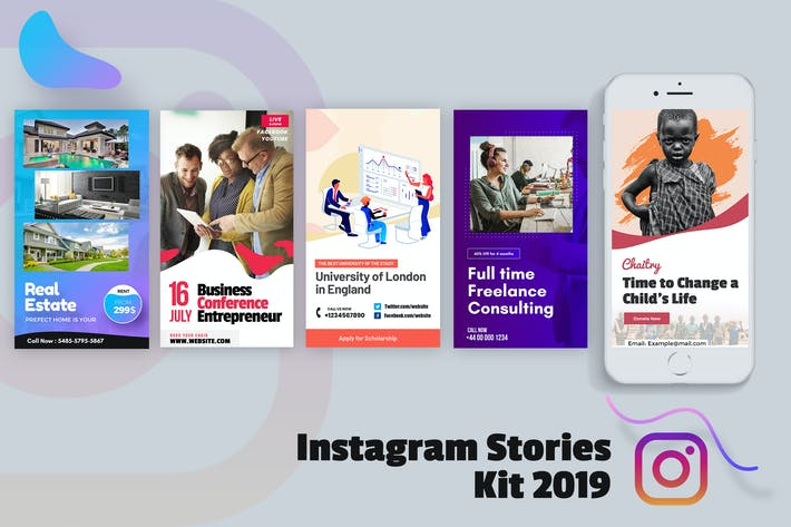 Cover Image For Creative Instagram Stories Kit 2019