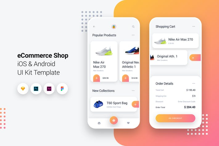 Thumbnail for eCommerce Shop App iOS & Android UI Kit Template