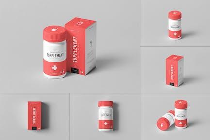 Supplement Jar & Box Mock-Up 4