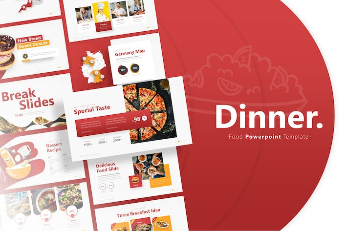 Thumbnail for Dinner - Food Powerpoint Template