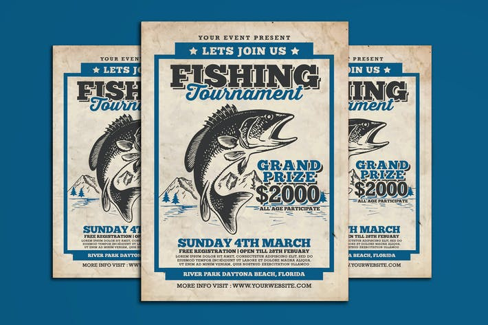 Thumbnail for Fishing Tournament Flyer