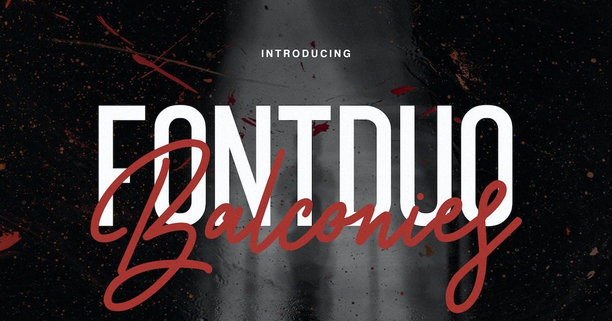 Download Balconies - Font Duo by maulanacreative