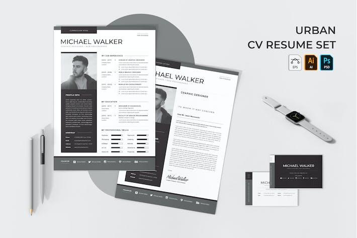 Urban CV Resume Set