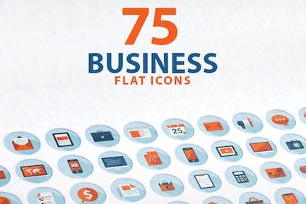 Conjunto de Íconos empresariales de diseño plano