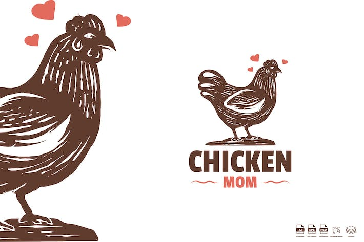 Thumbnail for Chicken mom logo