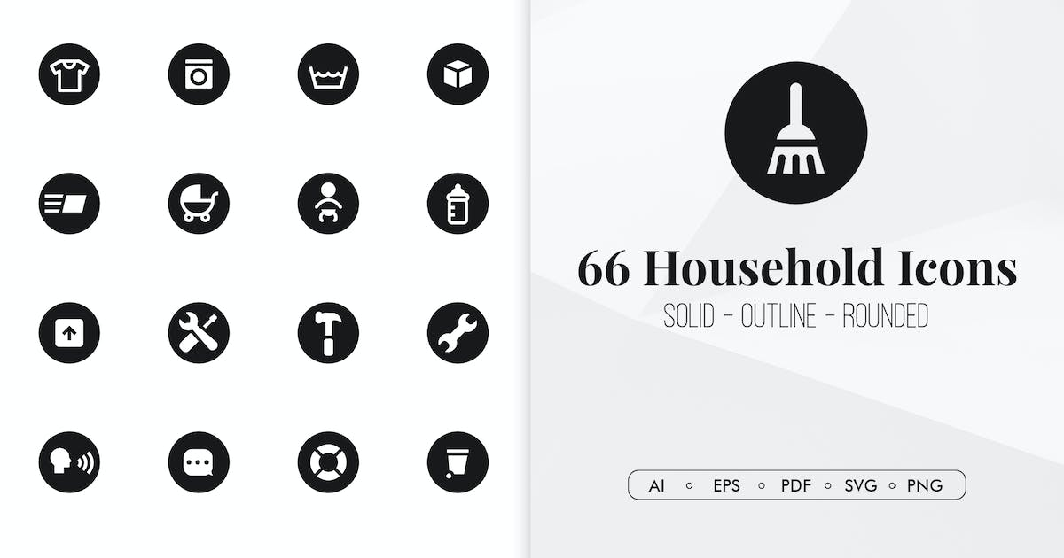 Download 66 Household minimal icons by Chanut_industries