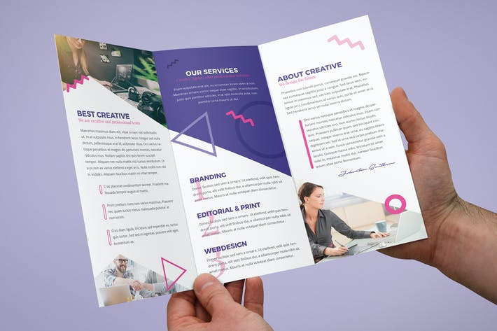 Thumbnail for Brochure – Creative Agency Tri-Fold