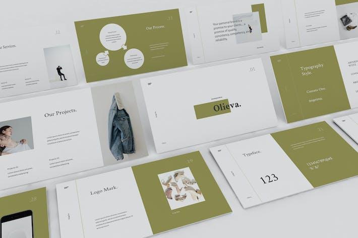 Thumbnail for Olieva - Branding Guidelines Keynote