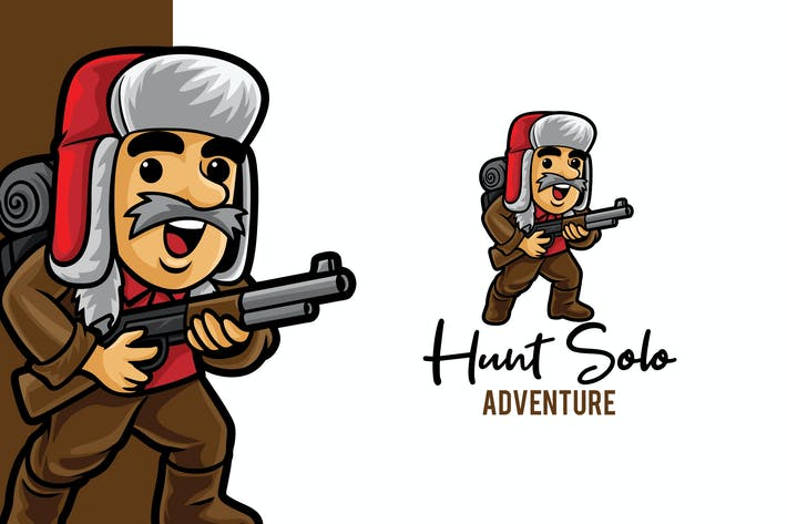 Thumbnail for Hunt Solo Adventure Logo Mascot Template