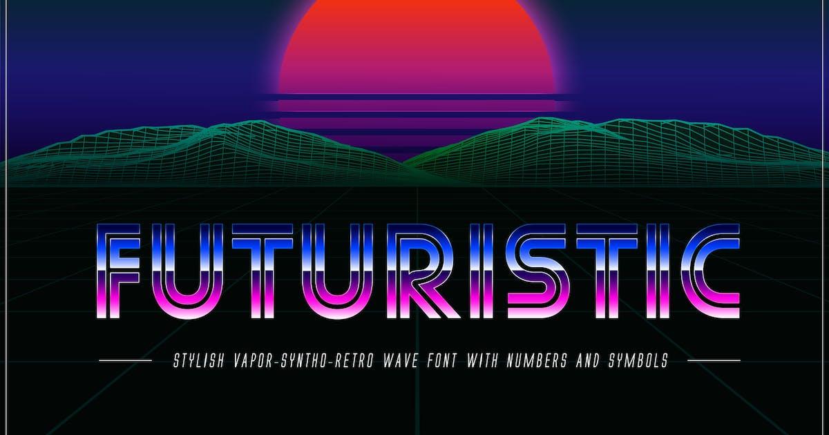 Download Futuristic OTF Vaporwave 80s Font by CkyBe