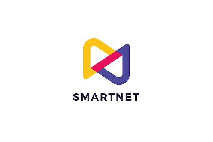 Thumbnail for Plantillas de logotipos de la letra S N Inteligente Net