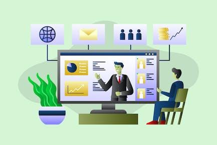 Online Webinar - Vector Illustration