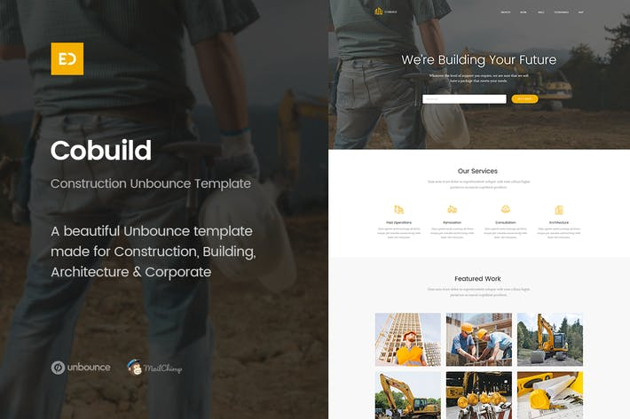 Thumbnail for Page d'accueil Cobuild - Unbounce Construction