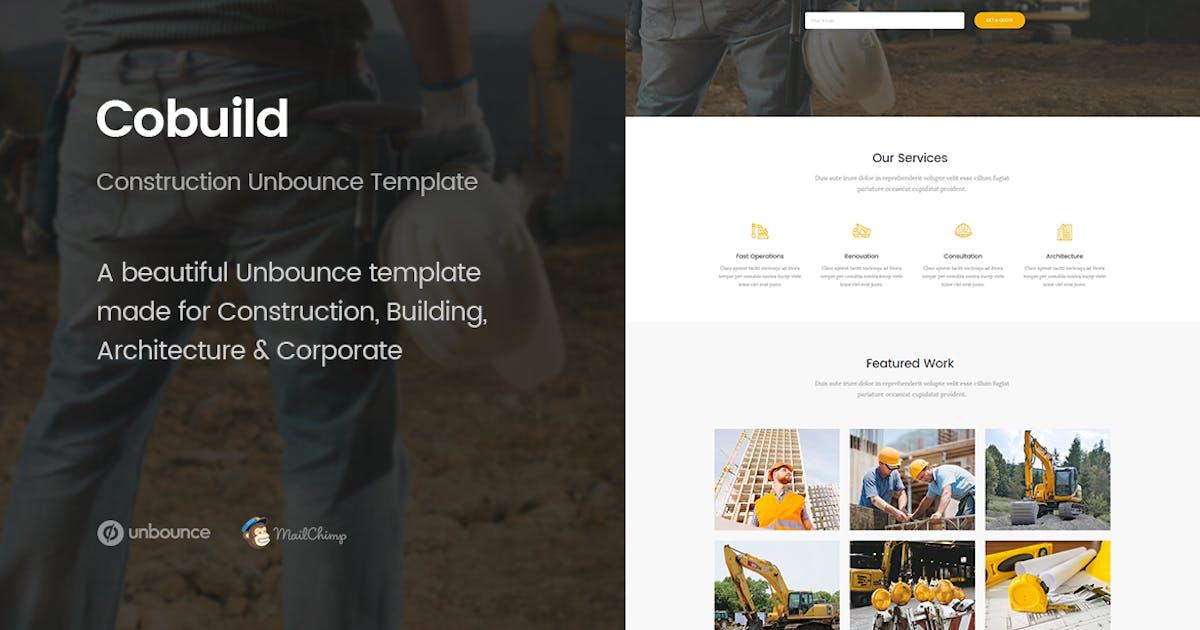 Download Cobuild - Unbounce Construction Landing Page by ExplicitConcepts