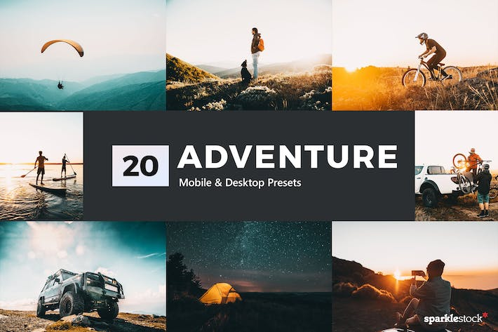 Thumbnail for 20 Adventure Lightroom Presets and LUTs