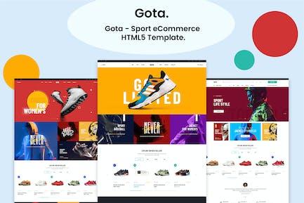Gota - Sport eCommerce HTML5 Template