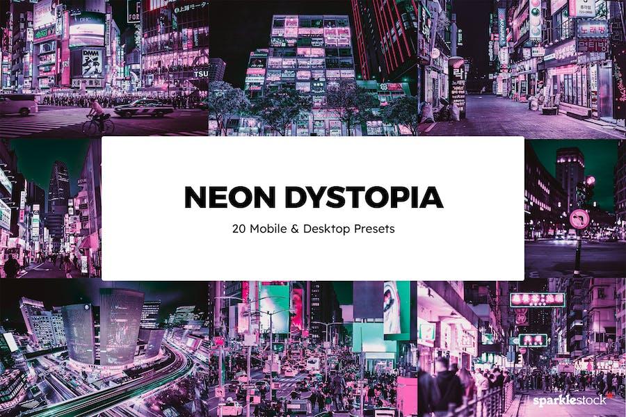 20 Neon Dystopia Lightroom Presets & LUTs