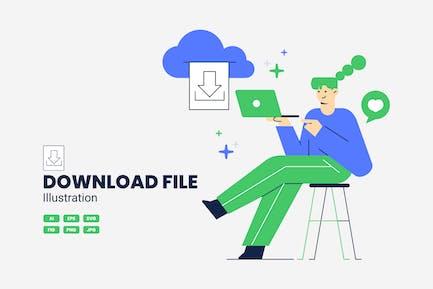 Datei-Vektor-Illustration herunterladen
