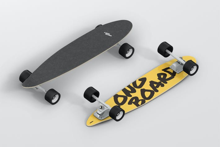 Thumbnail for Skateboard Longboard Mockup
