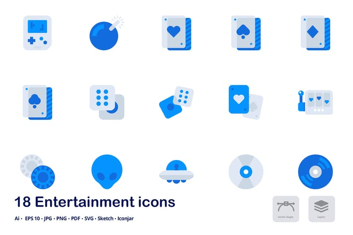 Thumbnail for Entertainment Accent Duo Tone Icons