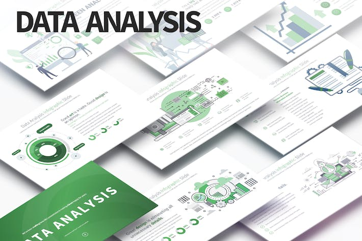 Thumbnail for Data Analysis - PowerPoint Infographics Slides