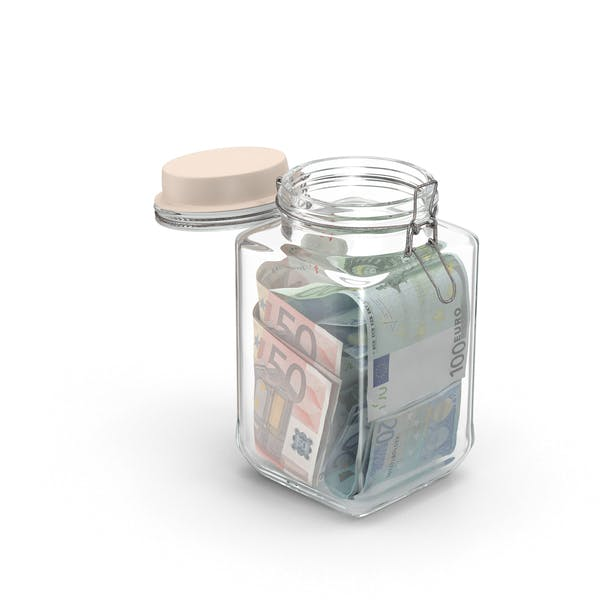 Thumbnail for Glass Jar with Euros
