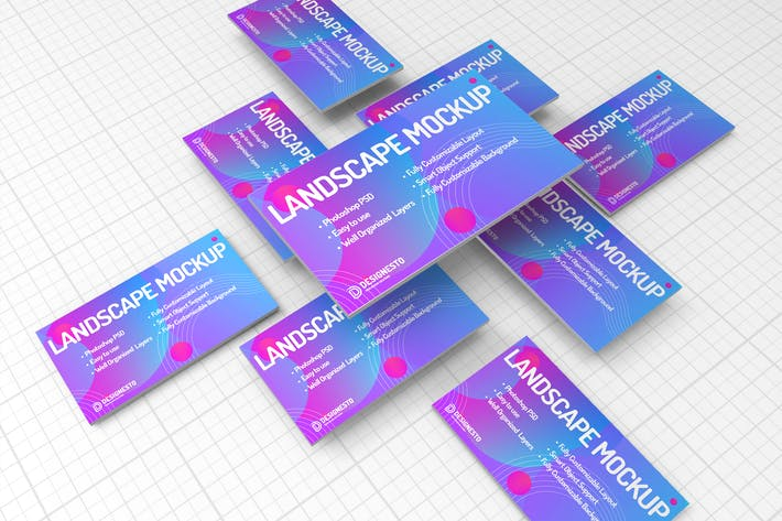 Thumbnail for Landscape Page – Mockup Template