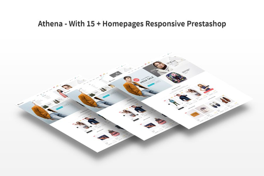 Athena - With 15 + Homepages Responsive Prestashop