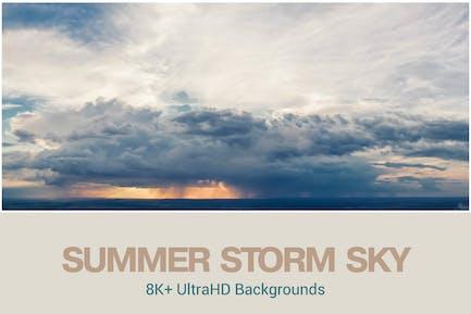 8K UltraHD Sommersturm-Hintergründe