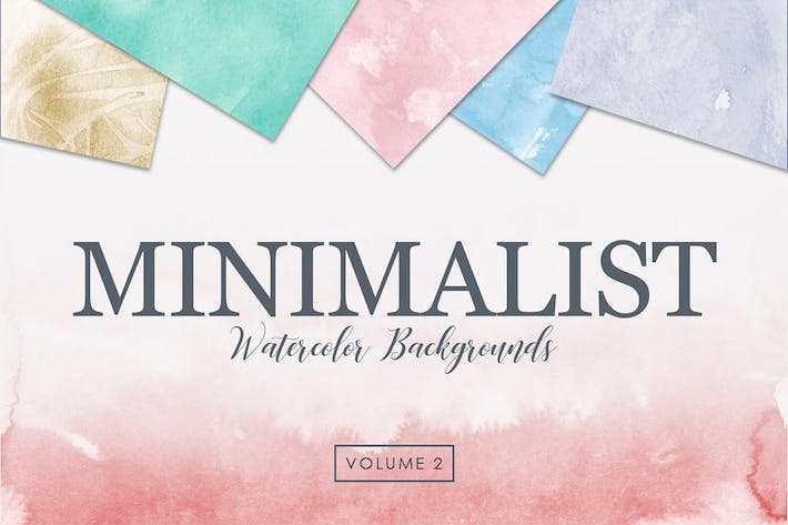 Thumbnail for Minimalist Watercolor Backgrounds Vol. 2