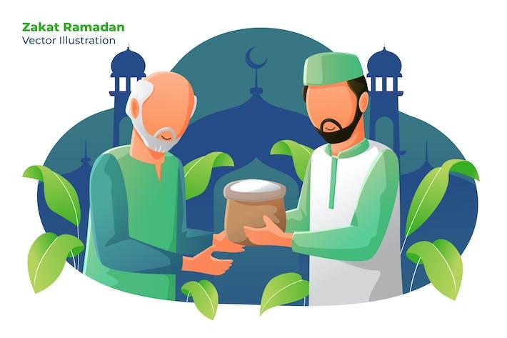 Thumbnail for Zakat Ramadan - Vektor illustration