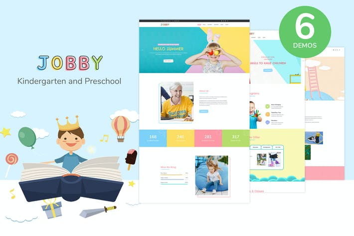 Thumbnail for Jobby - Day Care and Kindergarten HTML5 Template