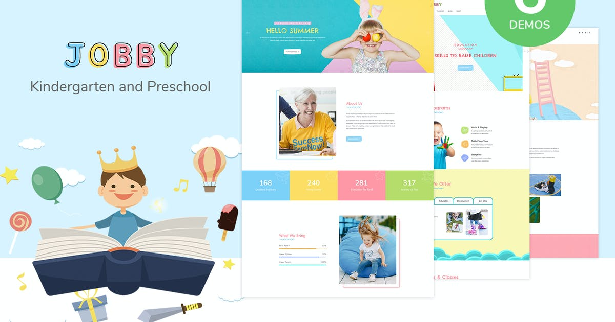 Download Jobby - Day Care and Kindergarten HTML5 Template by AuThemes
