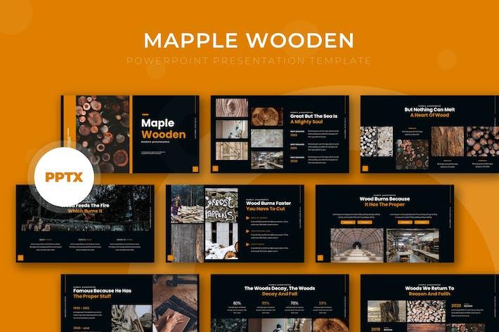 Thumbnail for Кленовый деревянный - Powerpoint Шаблон