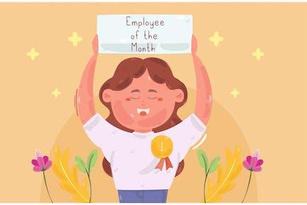 Illustration de l'employé du mois