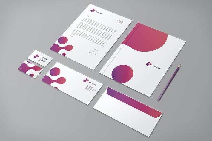 Thumbnail for Modern Purple Business Stationery