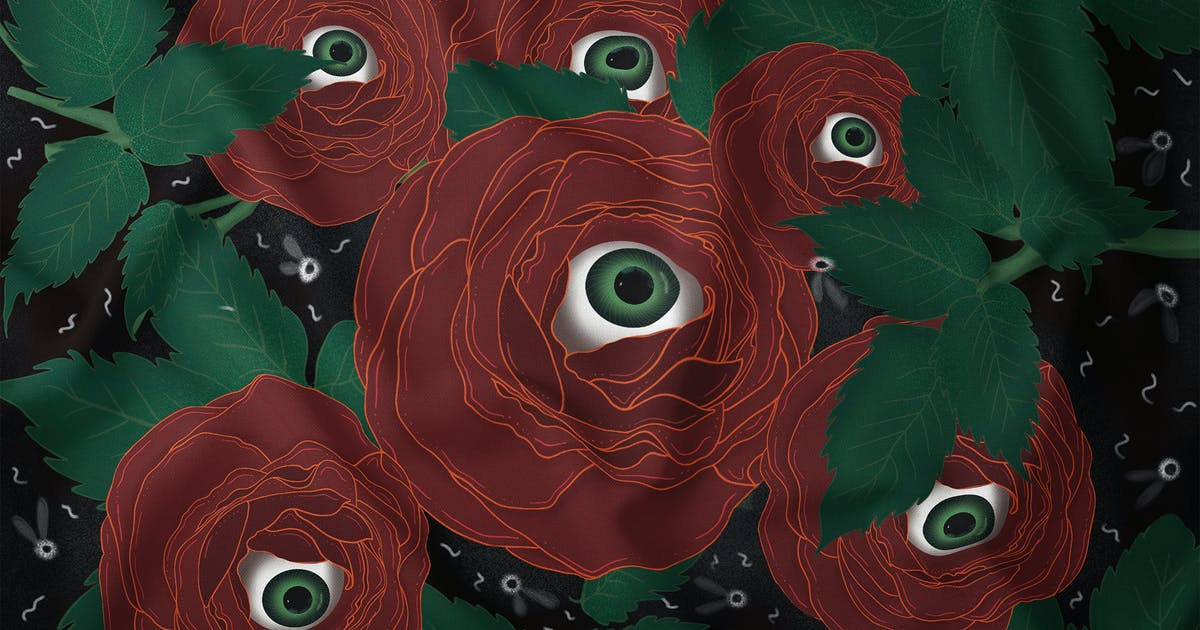Download Illustration - Creepy Red Rose Eye by Squirrel92